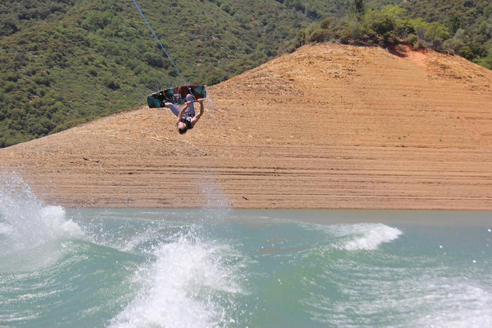 Fun on the wakeboard...