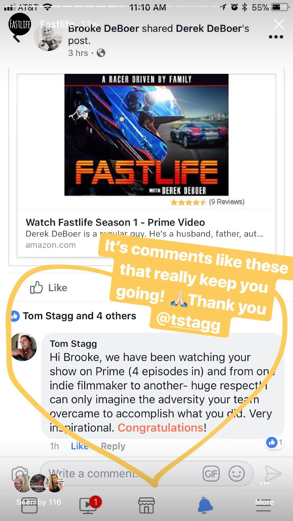 An Encouraging Note from friend and fan Tom Stagg
