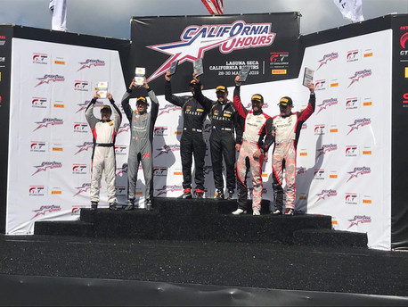 Spraying Champagne at Laguna Seca Raceway | Derek's In Charge of the Blog