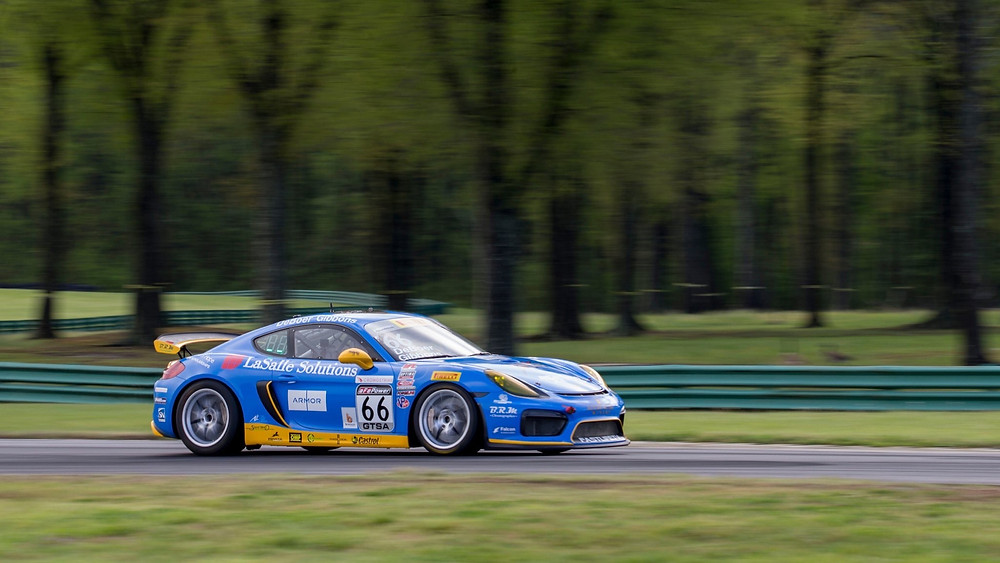 Derek's Porsche on track at VIR