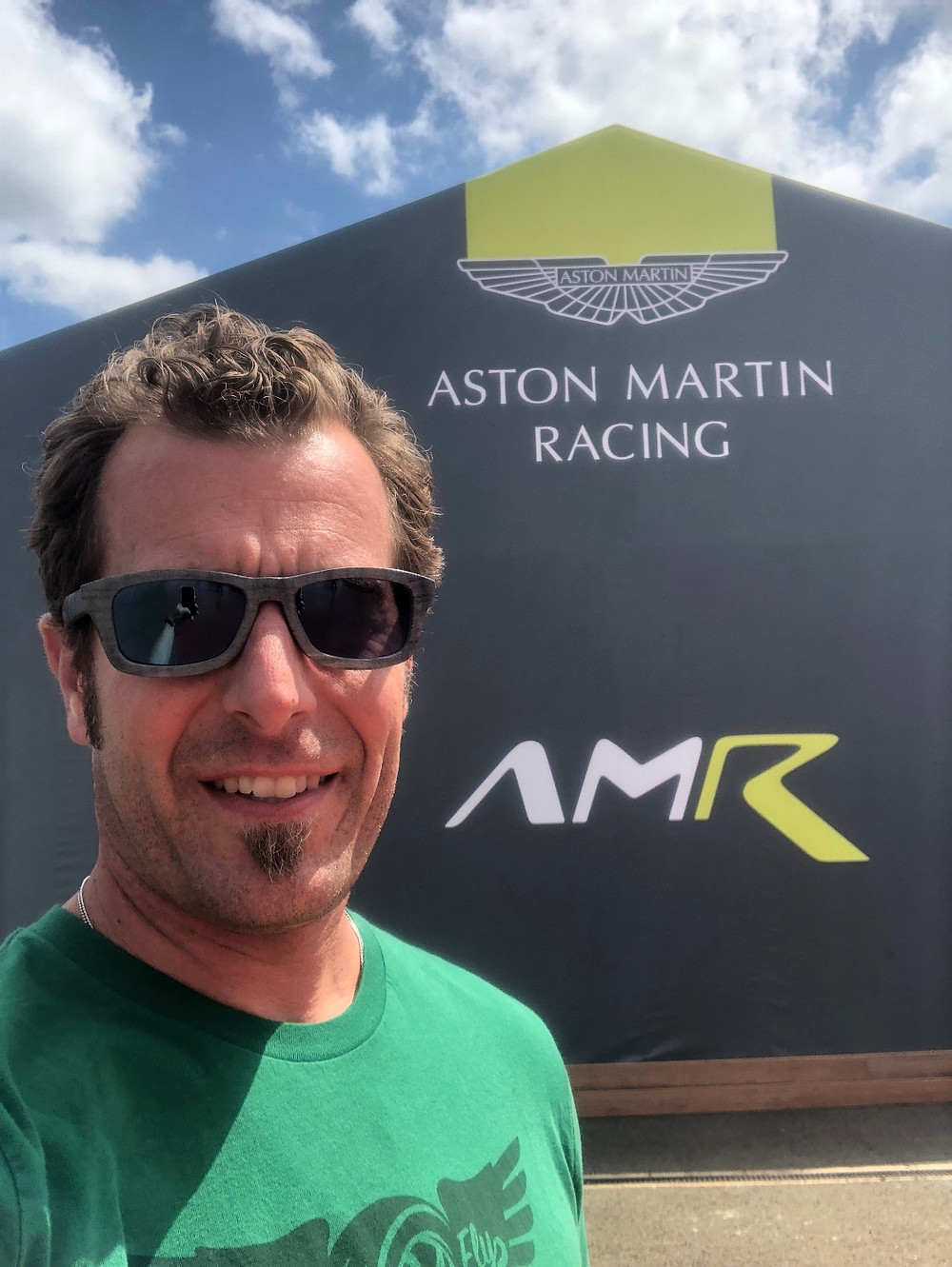 Derek in LeMans visiting Aston Martin Racing