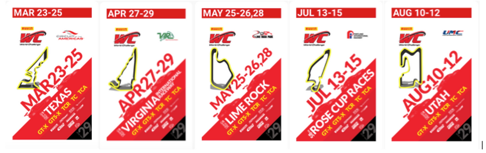 2018 Race Schedule