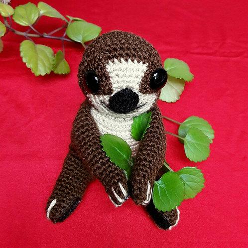 Amigurumi Sloth, Handmade doll, Crochet animal