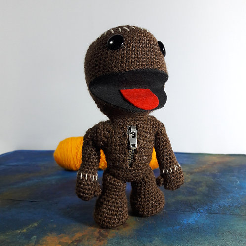 Little Big Planet Sackboy plush toy, amigurumi Sackboy crochet