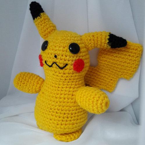 Amigurumi Pikachu, Handmade doll, Crochet pikachu
