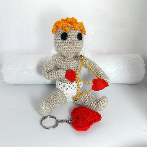 Amigurumi Cupid, Handmade doll, Crochet Cupid, love gift