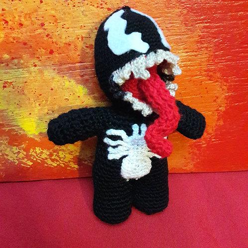 Amigurumi Venom, Handmade doll, Crochet Venom