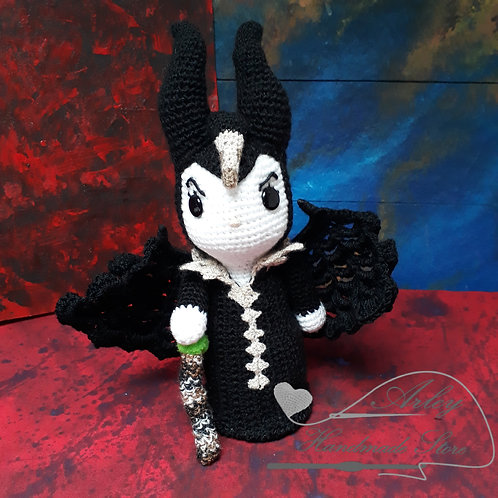 Maleficent 2019 amigurumi, Mistress of Evil plush crochet figure doll