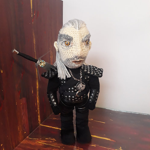 The Witcher amigurumi crochet doll