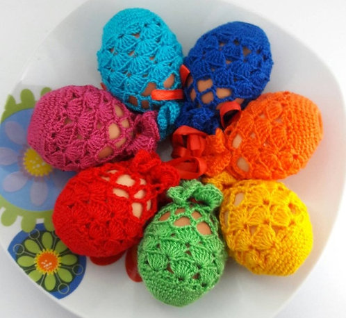 Easter decor, egg decoration, crochet eggs