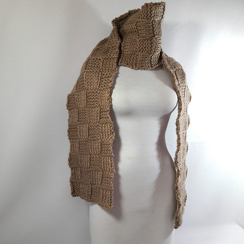 Scarf neutral beige neckwarmer, knit accessories, custom scarves