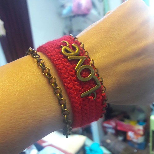 Love bracelet, red bracelet, Valentines day Gift