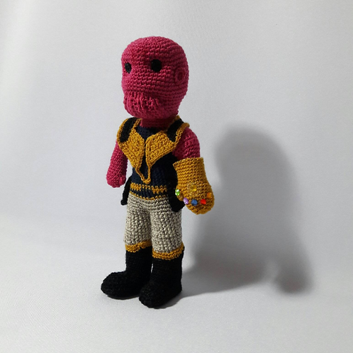 Thanos amigurumi, Handmade Crochet Thanos, Thanos doll