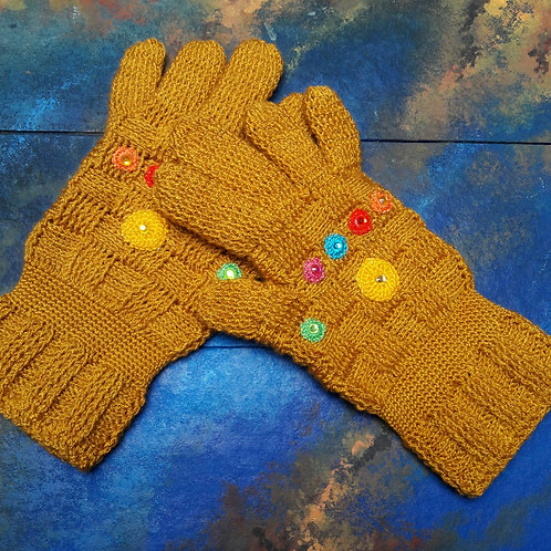 Thanos GauntletGauntlets full finger gloves crochet inspired by Thanos avengers