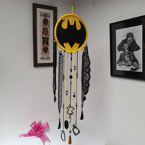 Batman dreamcatcher, boys room wall hanging super hero decoration