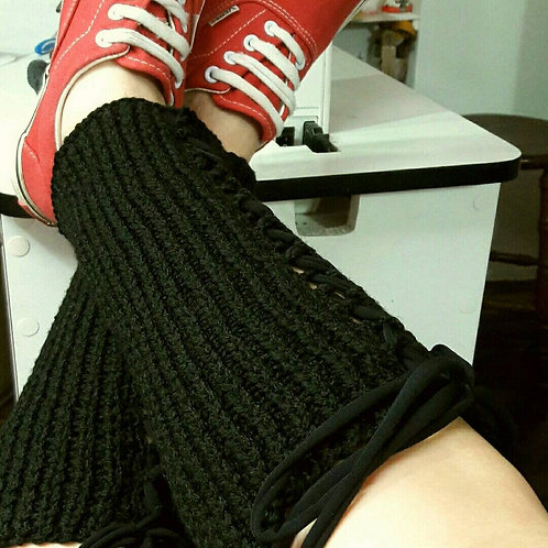 Knit leg warmers, winter gift, gothic warmers