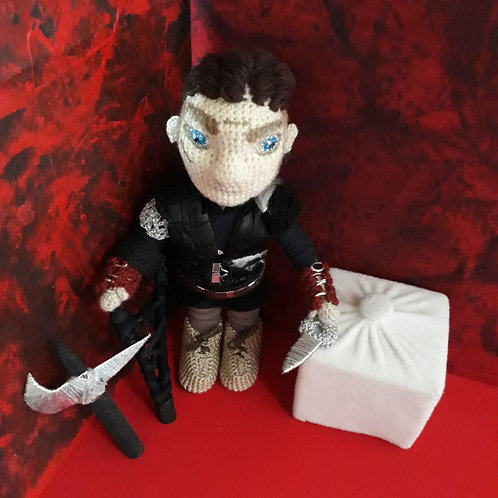 Custom Order,  Ivar the Boneless, from Vikings series amigurumi