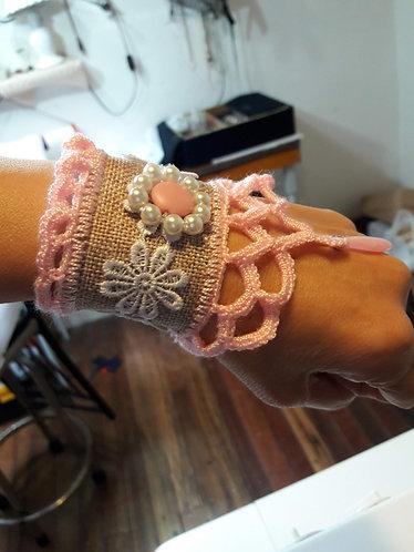 Fabric bracelet, lolita bracelet, jute bracelet