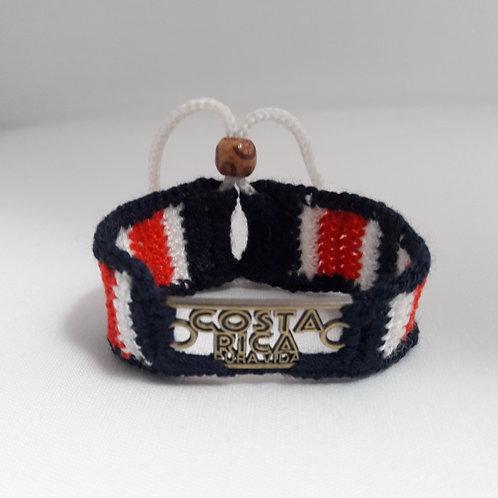 Costa Rica Bracelet, unisex bracelet handmade in crochet