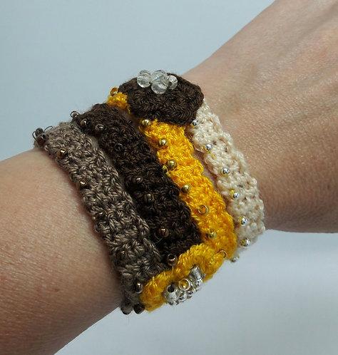 Multi strand bracelet, Woven bracelet, womens bracelet