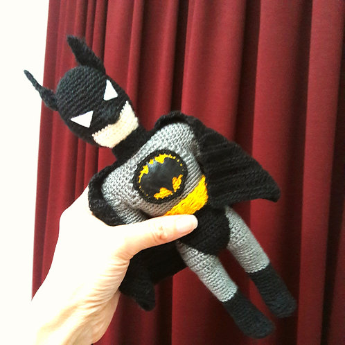 Amigurumi Batman, Handmade Crochet Batman, Batman toy