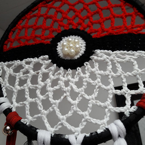 Pokeball dreamcatcher, wall hanging decoration childrem room