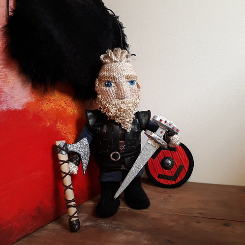 Custom Order,  Bjorn Ironside, from Vikings series amigurumi