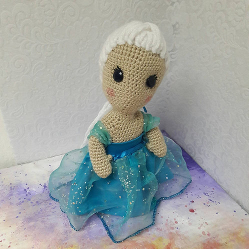Elsa doll plush amigurumi crochet frozen doll