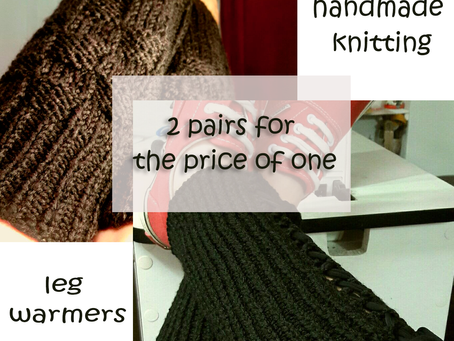 On Sale!!!.   2 legwarmers for the price of 1.