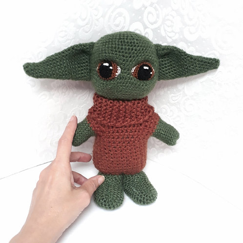 Yoda Child amigurumi, Star Wars plush crochet figure doll