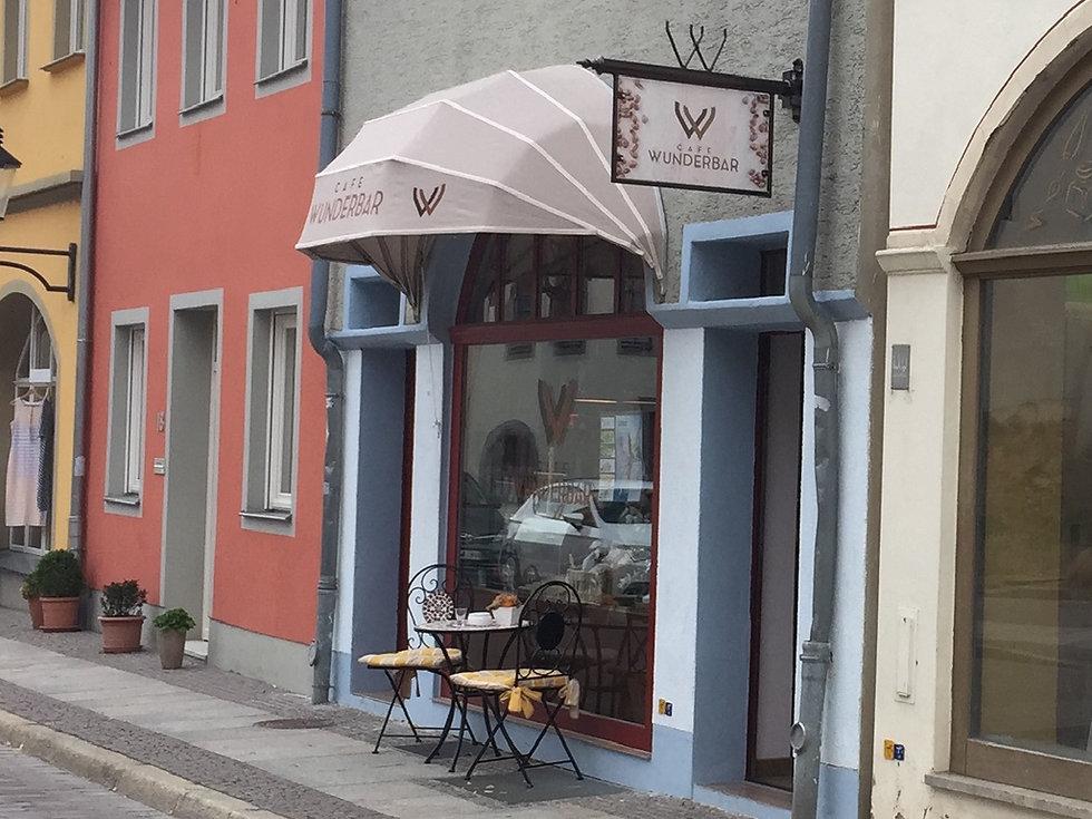 Schaufenster Cafe Wunderbar