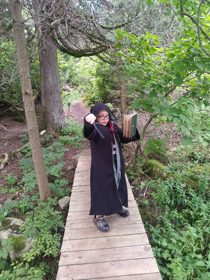 It took my nephew a little while to embrace the idea of doing imaginary magic.