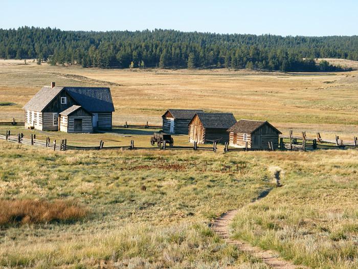 Montana homestead circa 1850.