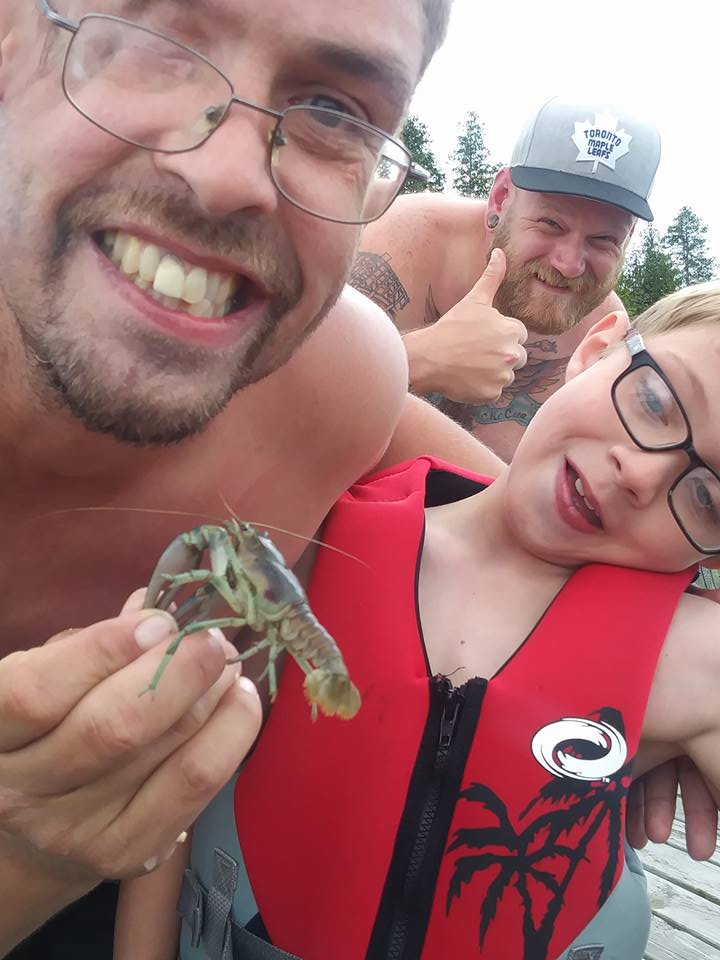 My brother-in-law Ricky, nephew Charlie and husband Marcel enjoying the wildlife.