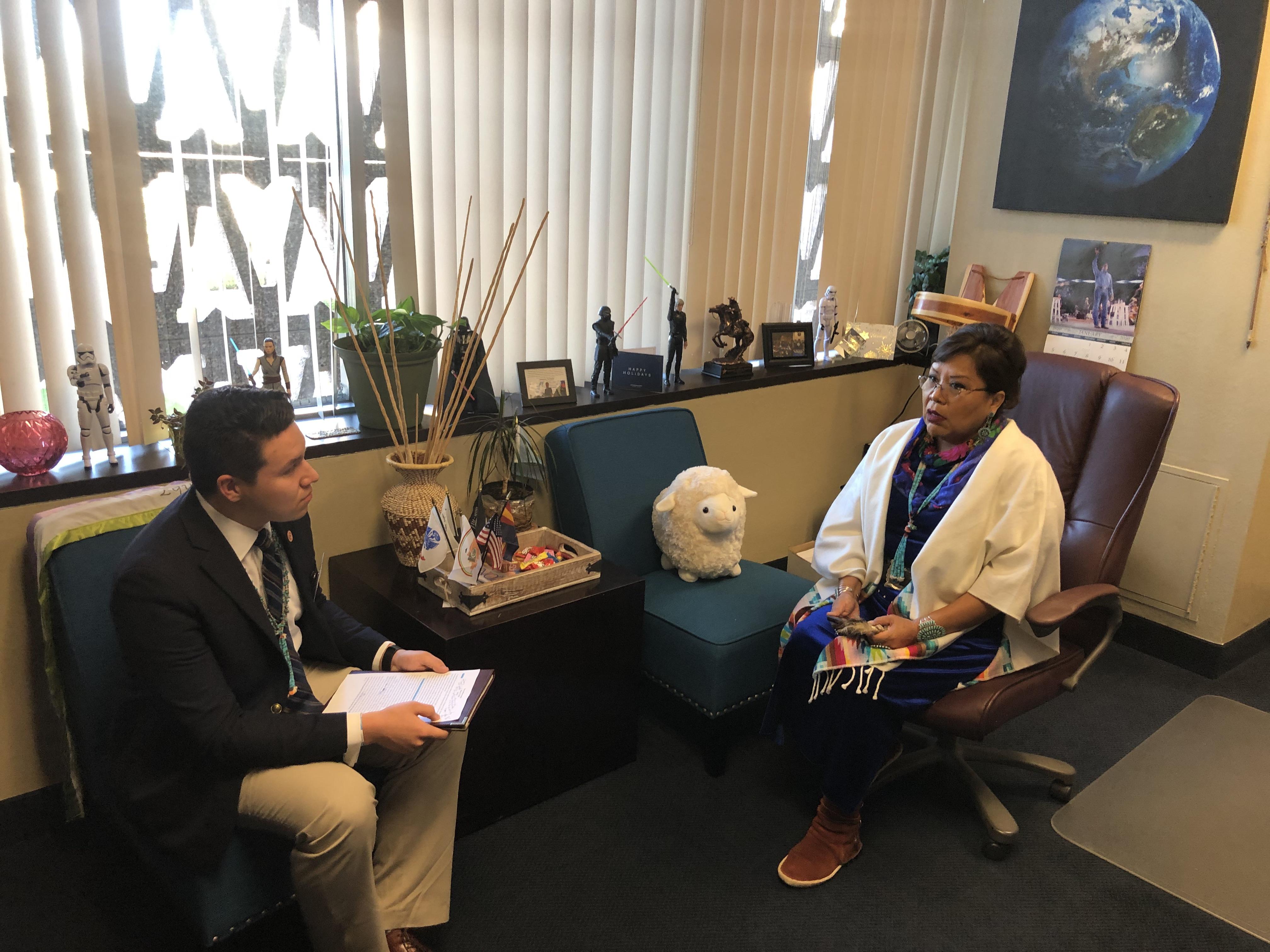 Meeting with Senator Peshlakai
