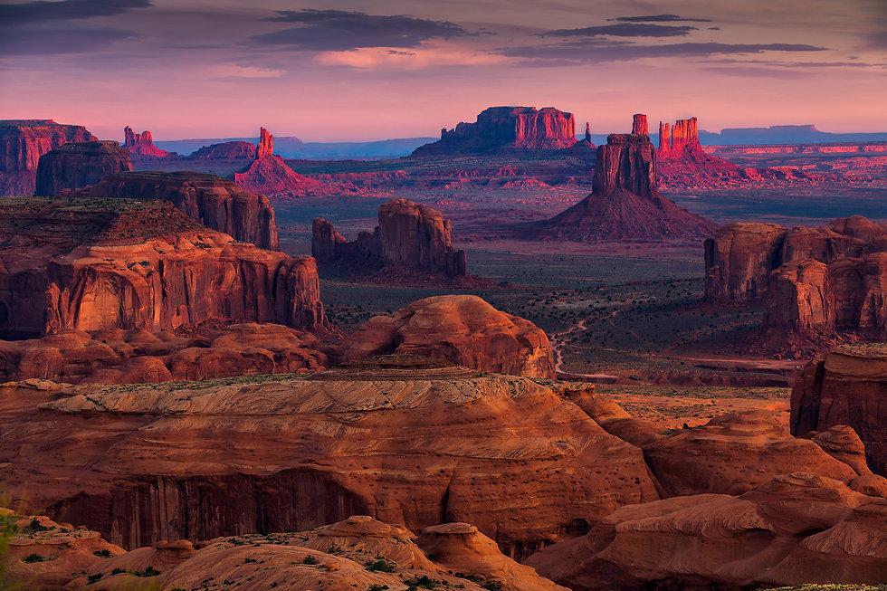 Sunrise in Hunts Mesa navajo tribal maje