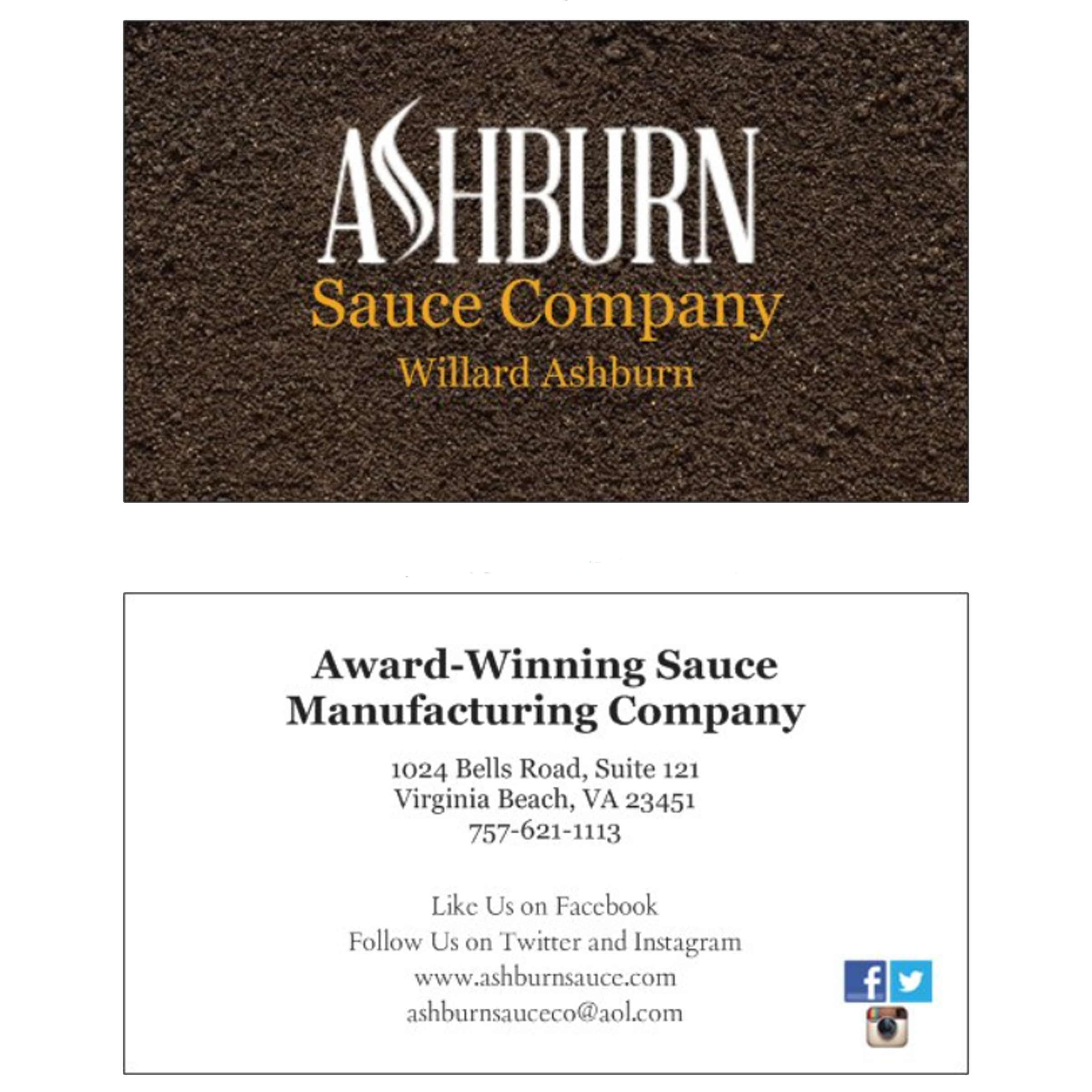 Ashburn businesscards