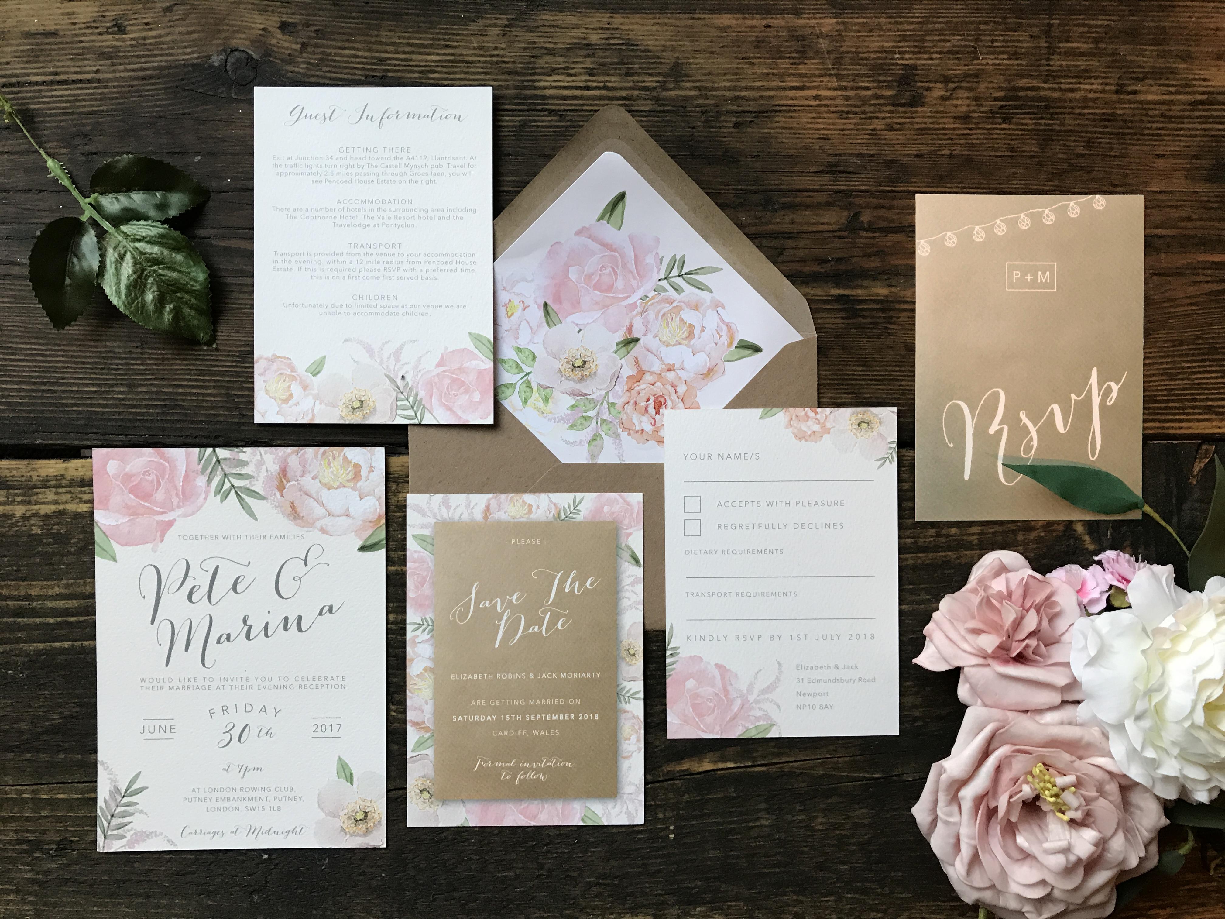 Affordable Wedding Stationery UK | Something Kinda Cute