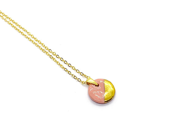Pink Circle Necklace Pendant