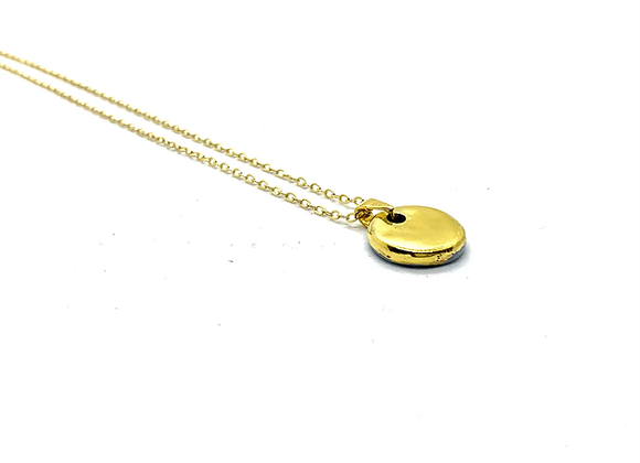 All Gold Coin pendant necklace