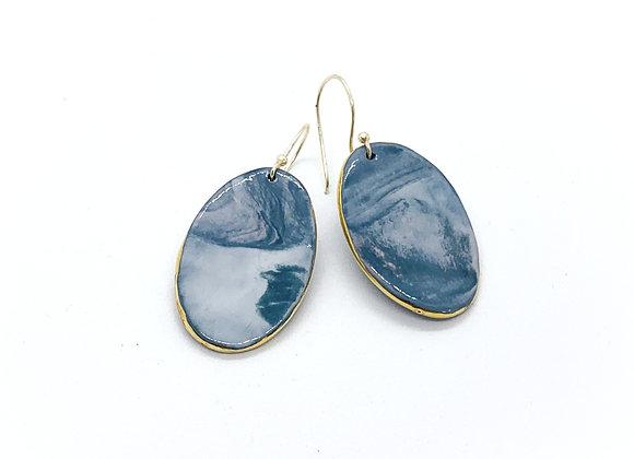 Marbled Ovals deep blue