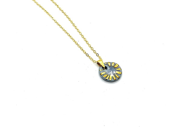 Small coin pendant necklace