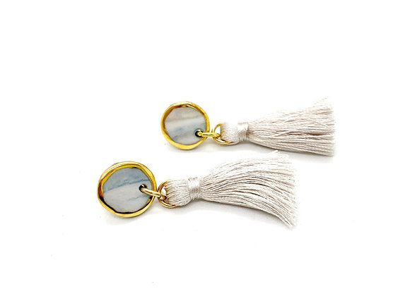 Marbled Coin with Tassel