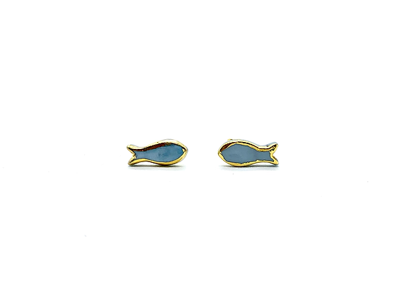 Goldfish earstuds with gold rim