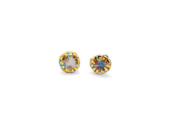Small colourful Dot Earstuds