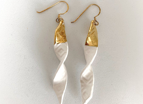 Gold Tipped Twist, long