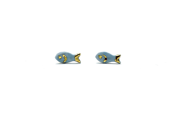 Goldfish earstuds with face detail