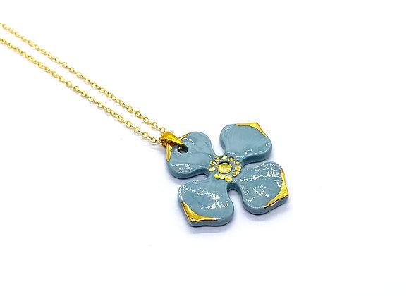 Hydrangea Necklace Pendant, large