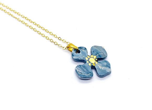 Hydrangea Necklace Pendant
