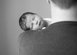 newborn girl dad